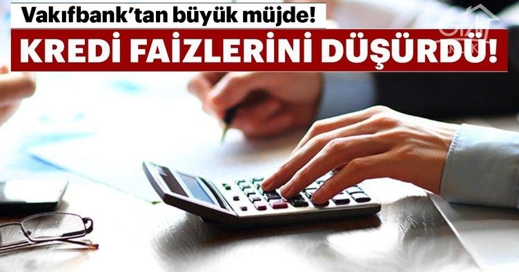 Son dakika haberi: VakıfBank, kredi faiz oranları ile ilgili müjde! İşte konut, taşıt ve bireysel ihtiyaç kredisi faiz oranları