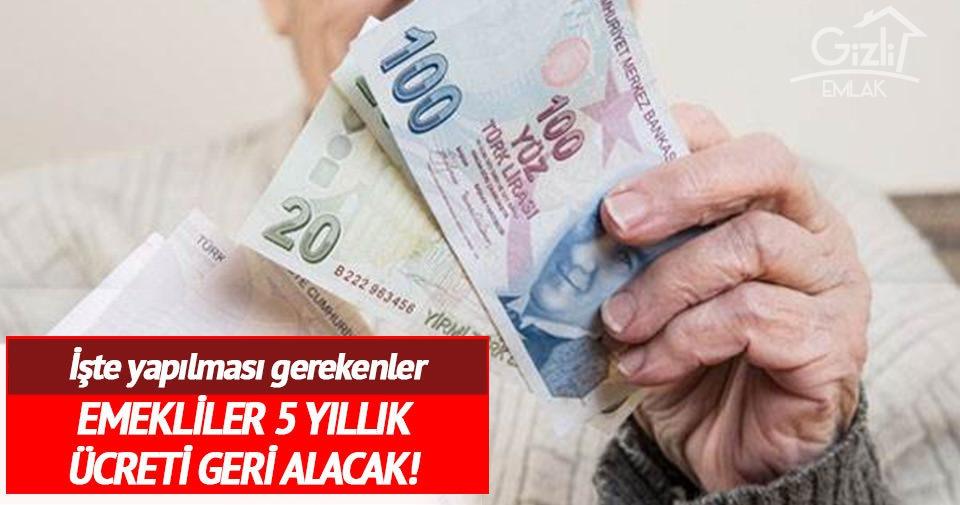 Muaf Olduğu Halde Emlak Vergisi Ödeyen Emekliler, Parasını Geri Alabiliyor